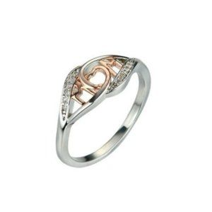 MOM Silver • Rose-Gold Ring • Size: 6